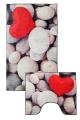 [Predložka do kúpeľne 3D -  svetlé kamene - 850/013]