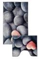 [Predložka do kúpeľne 3D - tmavé kamene - 850/042]