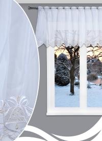 [Záclona metráž vitrážková - vianočná Bell 18 - 60cm ]