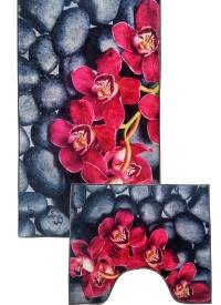 [Predložka do kúpeľne 3D - orchidea]