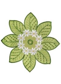 [Obrus malý  - Zelený kvet]