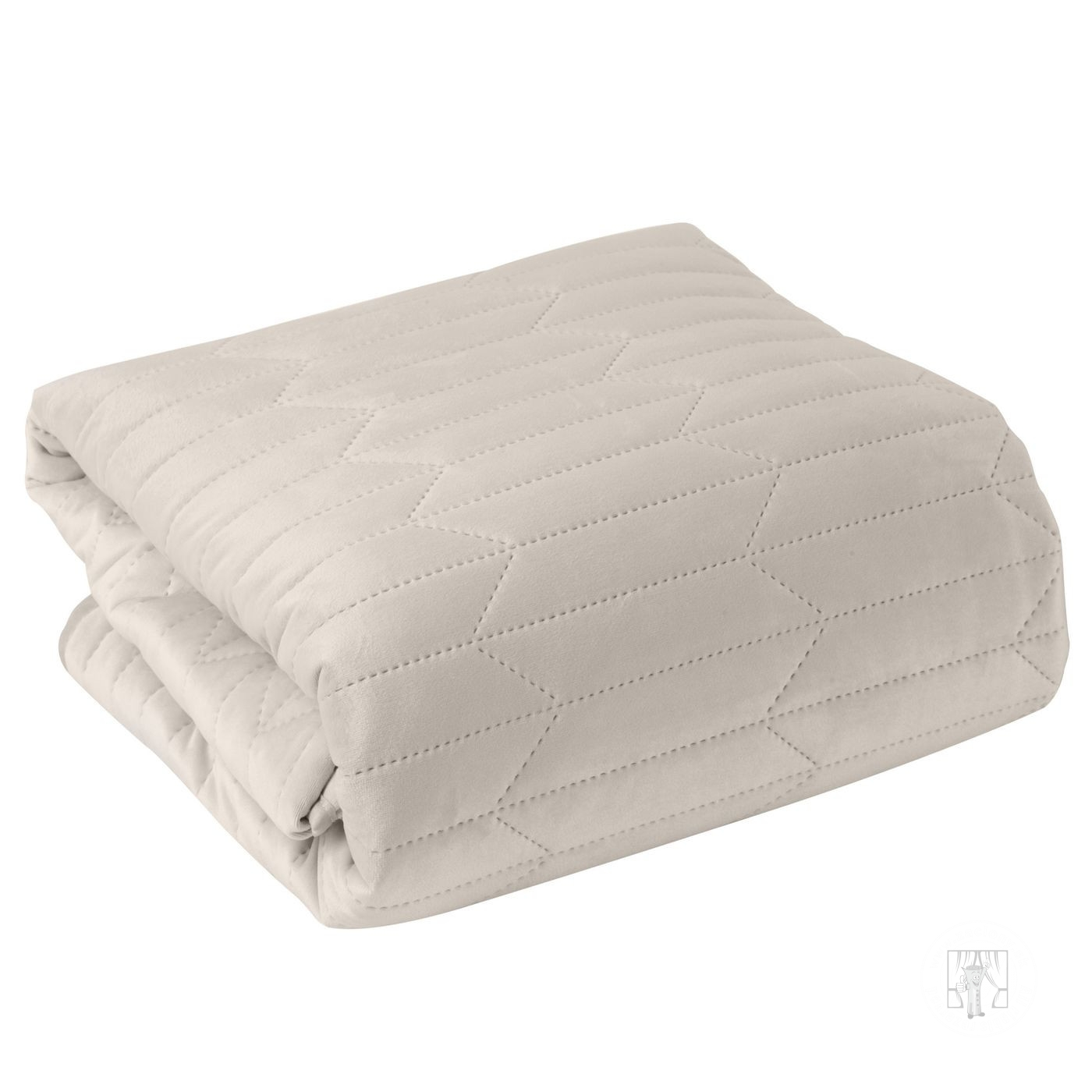 Prehoz na posteľ SOFIA krémový