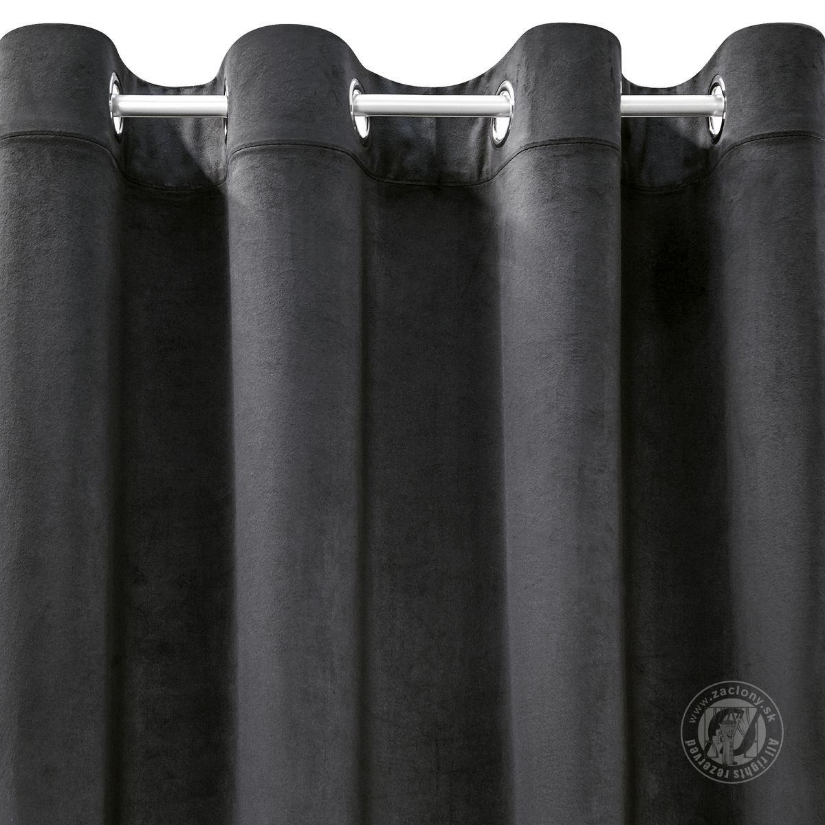 Záves ROSA na krúžkoch čierny 140x250cm