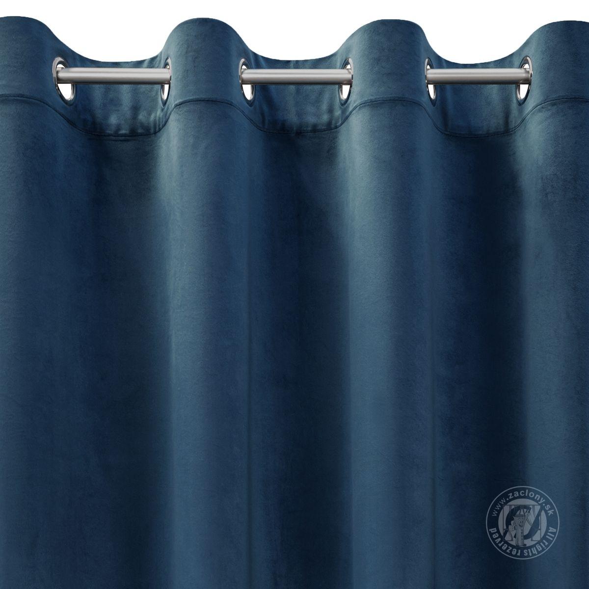 Záves ROSA na krúžkoch modrý 140x250cm
