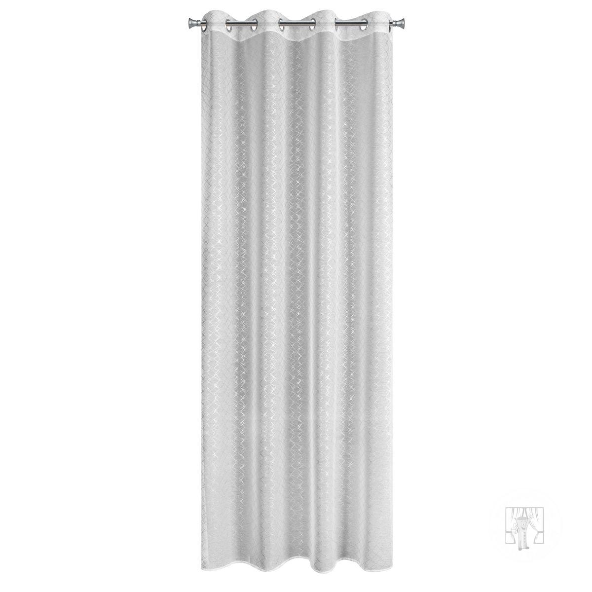 Záclona FIBI biela na krúžkoch
