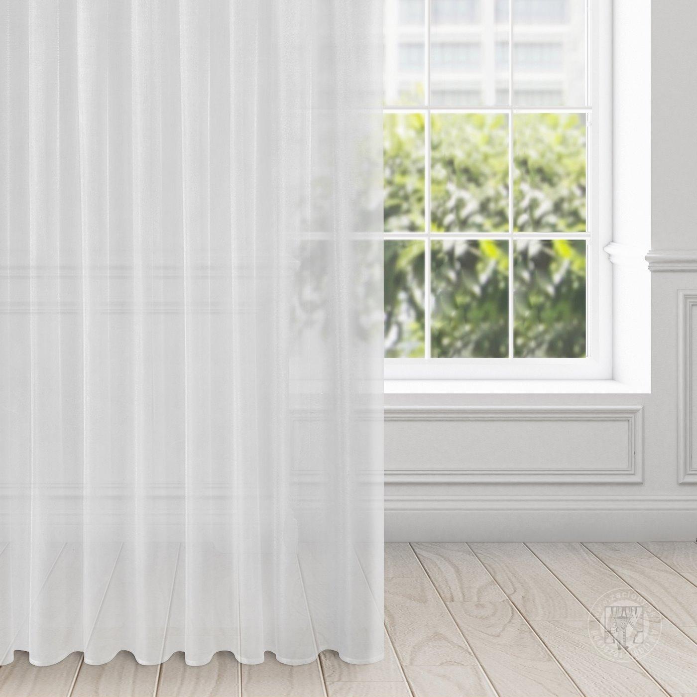 Záclona ALEXA biela na páske 135x270cm