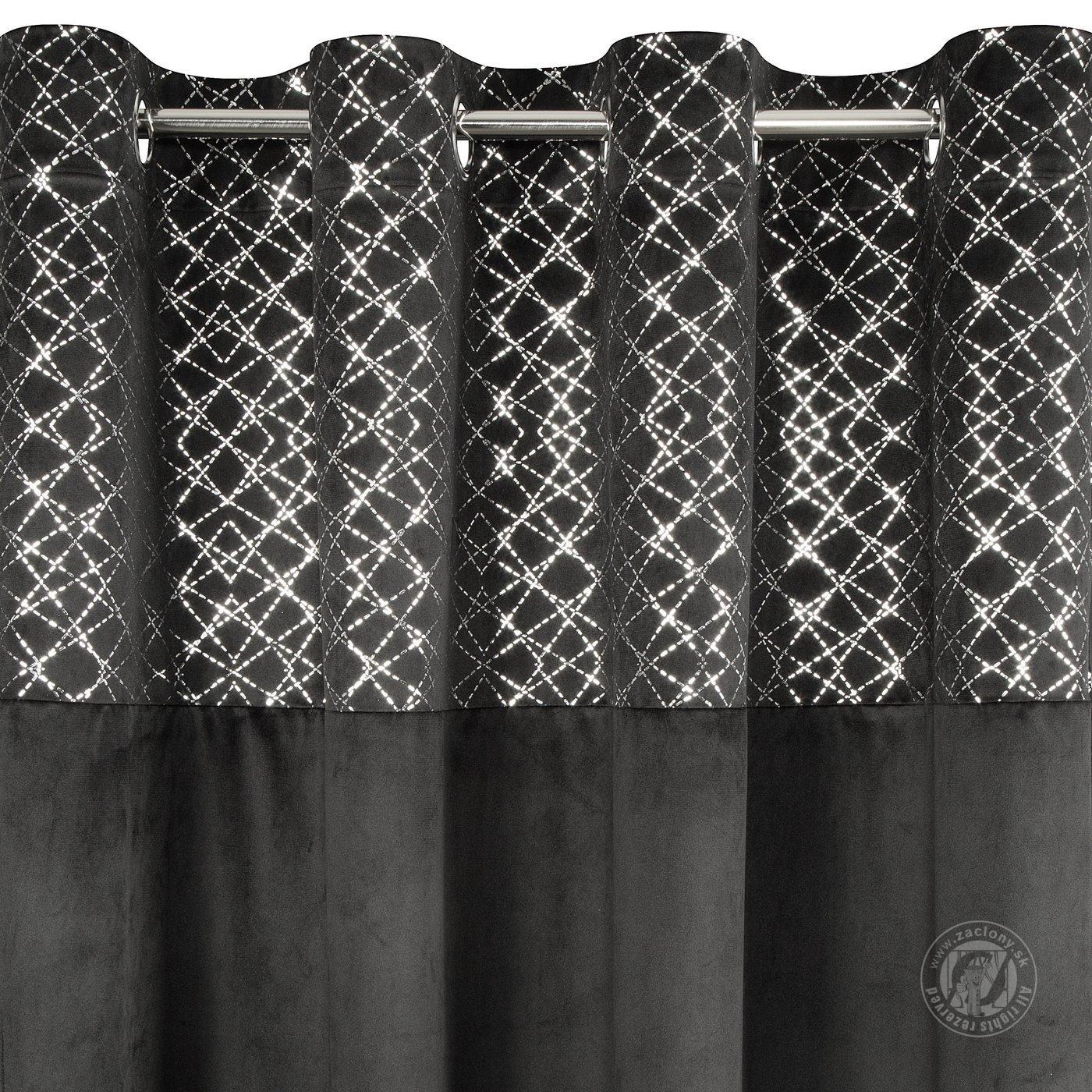 Záves SUZI na krúžkoch čierny 140x250cm