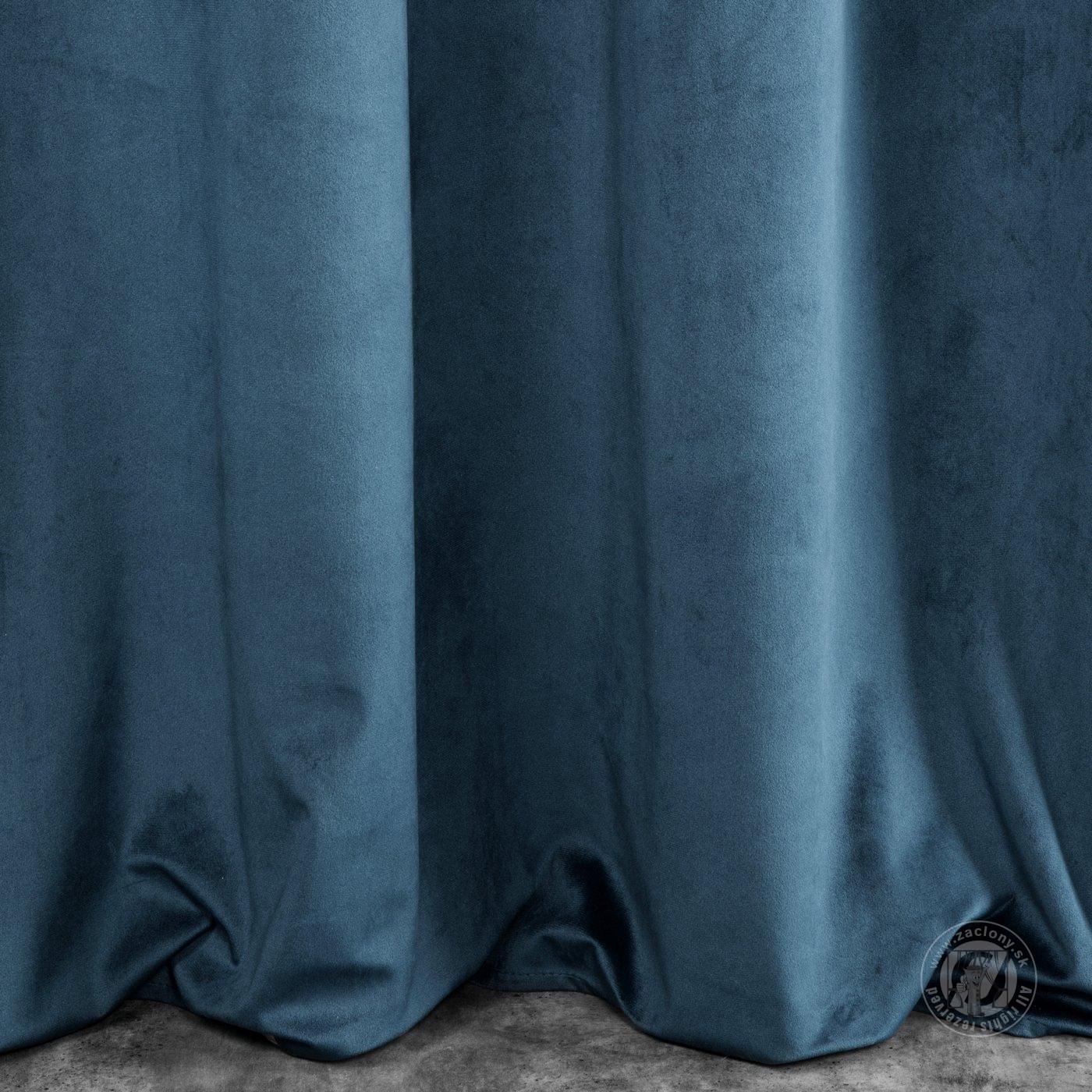 Záves SUZI na krúžkoch modrý 140x250cm