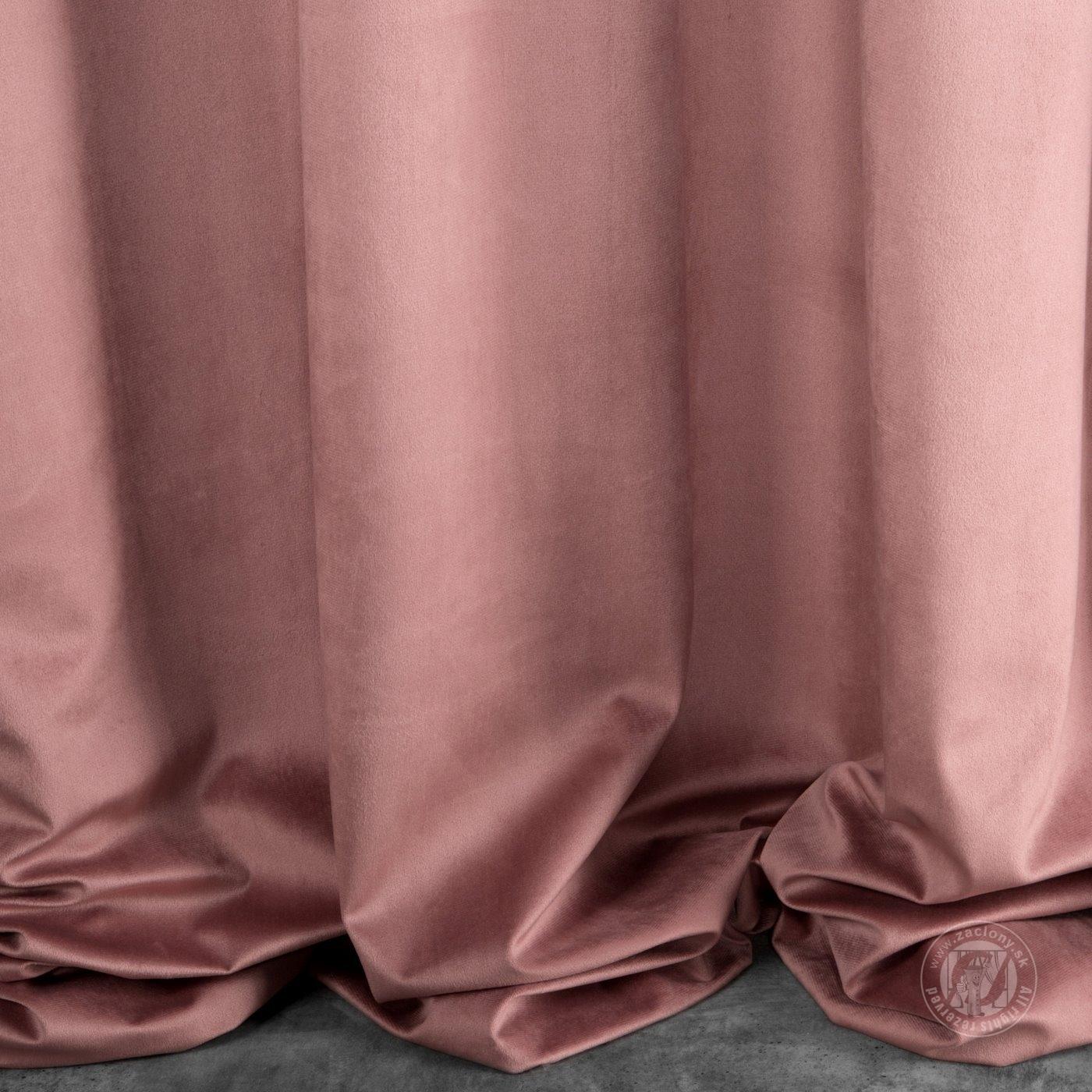 Záves SUZI na krúžkoch tmavo rúžový 140x250cm