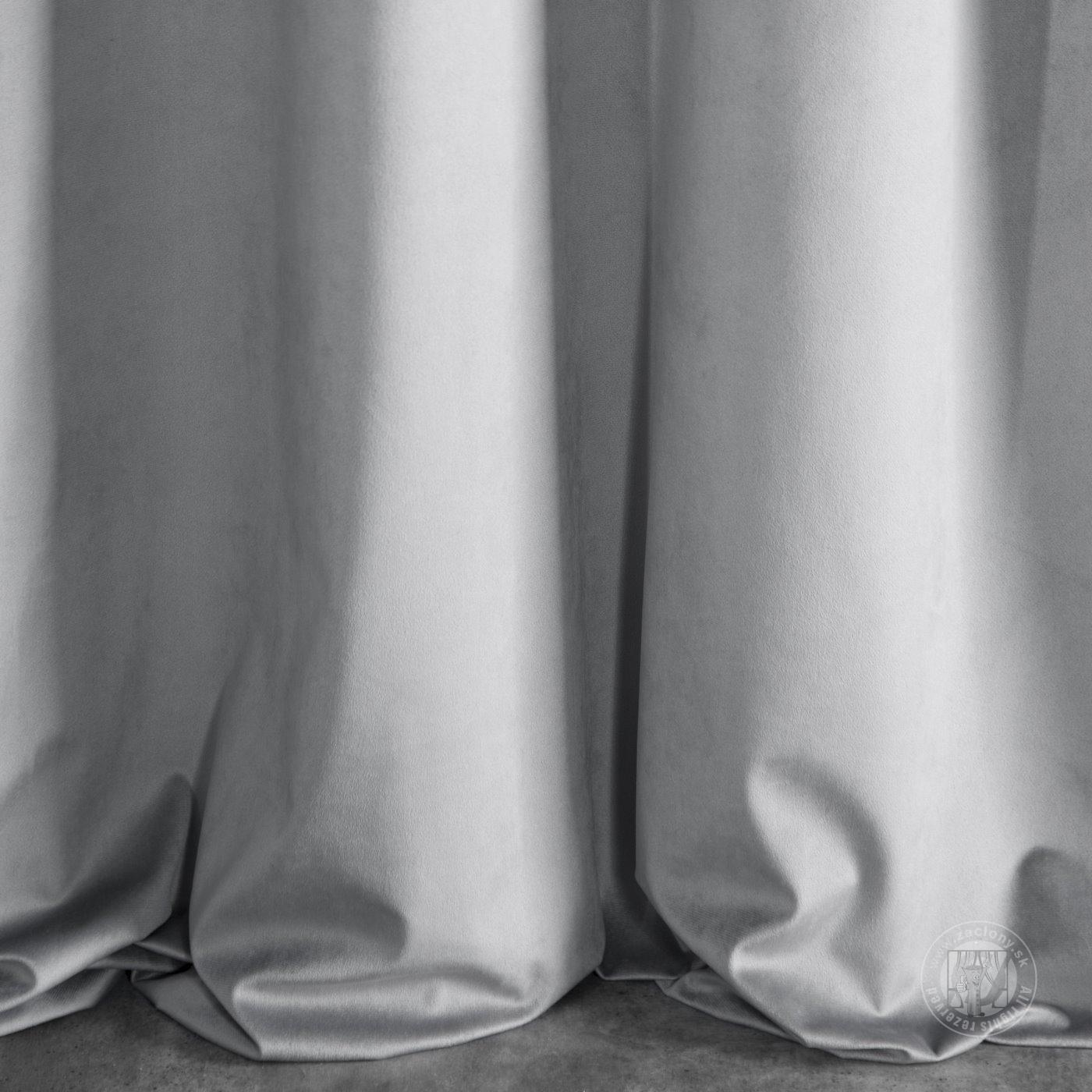 Záves SUZI na krúžkoch sivý 140x250cm