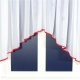 Záclona so stužkou