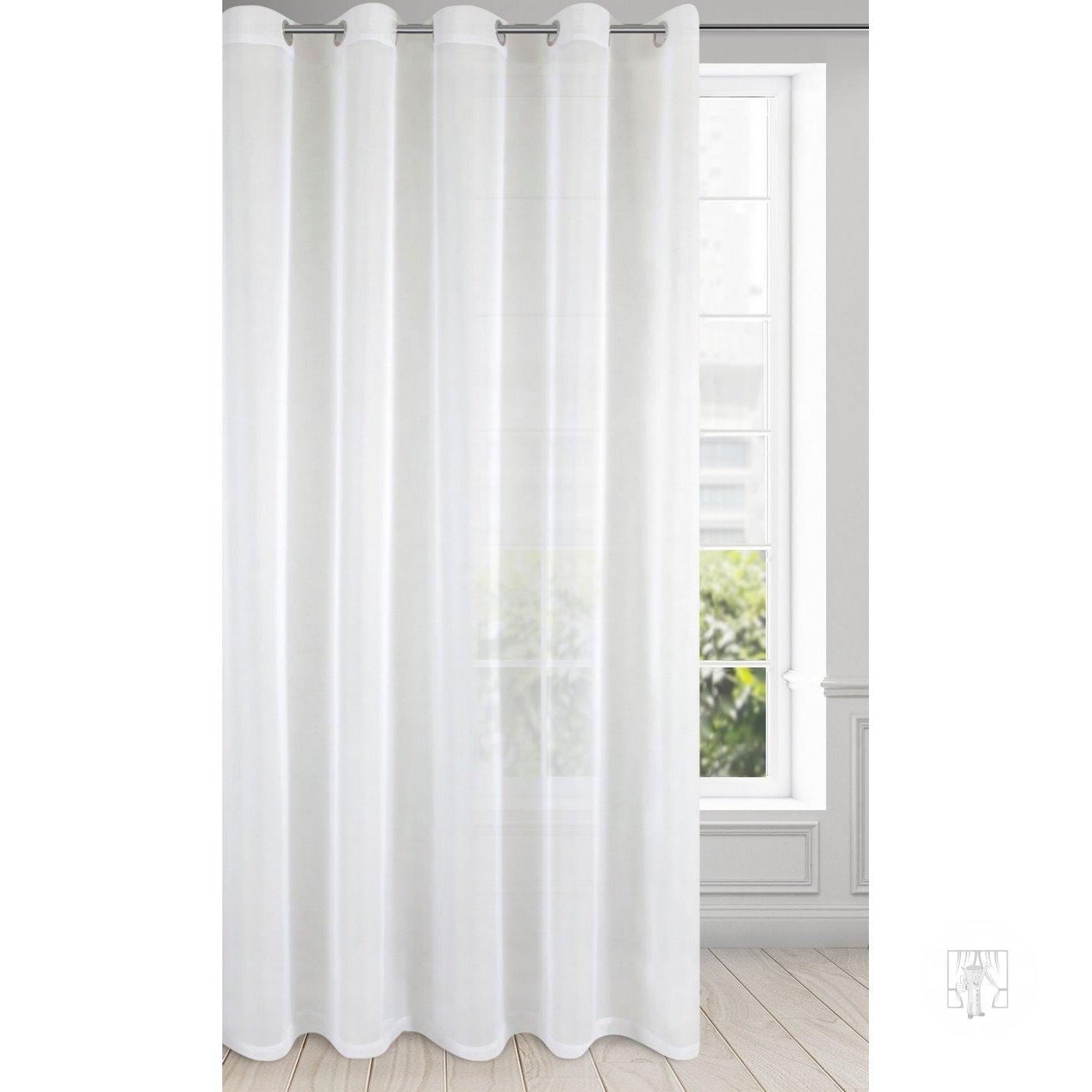 Záclona LUCY na krúžky biela 300x250cm