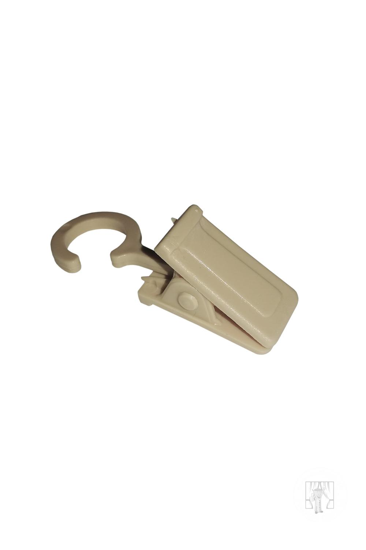 Štipec plastový k drevenej garniži - Svetlý Dub