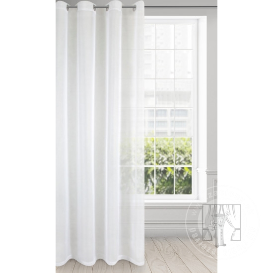 Záclona LUCY na krúžky biela 140x250cm