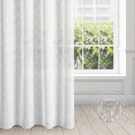 Záclona OLZA bielo-strieborná 140x250cm