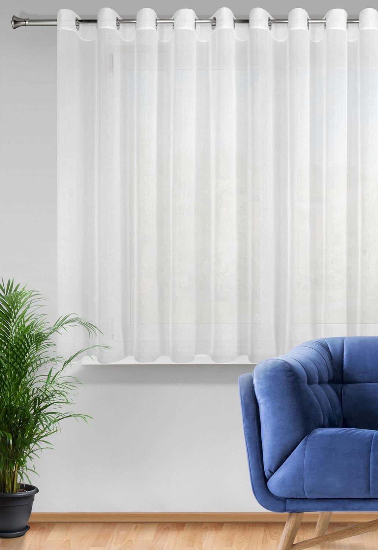 Záclona Rebecca na krúžkoch biela 350x250cm