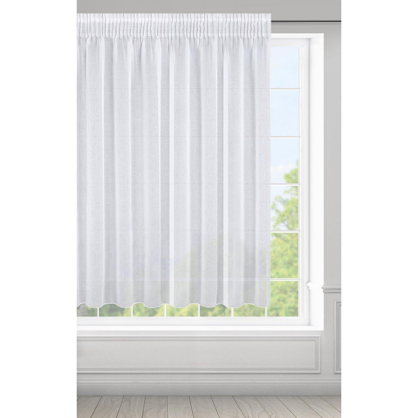 Záclona ELPIDIA na páske biela 350x150cm