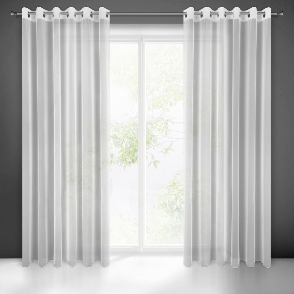 Záclona ESEL na krúžkoch biela 350x250cm