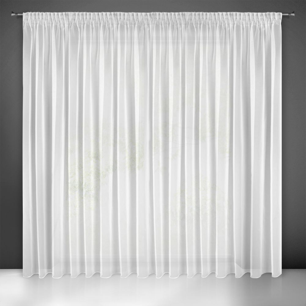 Záclona ESEL na páske biela 350x250cm