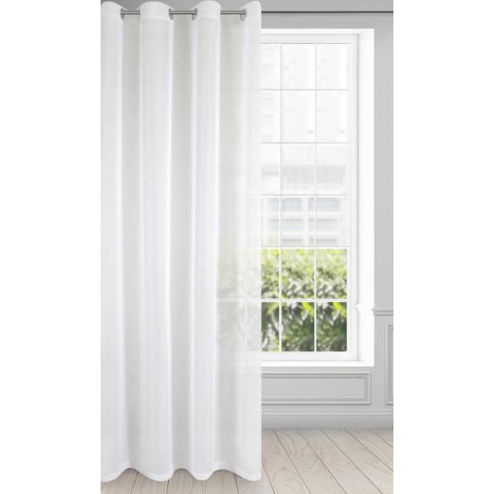 Záclona LUCY na krúžky biela 400x150cm