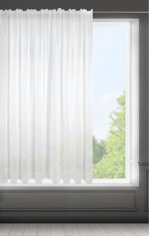 Záclona LUCY na páske biela 300x300cm